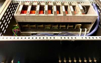 8x Neve transformers in powered rack For Sale